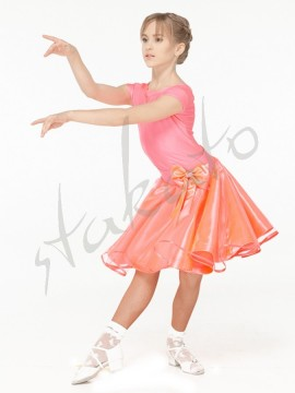 Juvenile set - skirt and short sleeve leotard