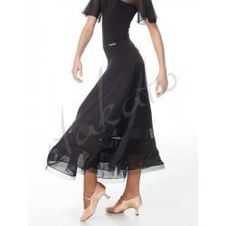 Long training skirt with mesh and crinoline