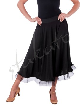 Long skirt for standard with crinoline