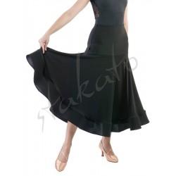 Long skirt for standard with hidden crinoline