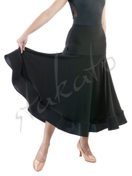 Long skirt for standard with hidden crinoline