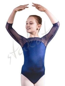 Girl's leotard Olenka Navy Dots Juli Garden