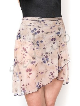 Medium skirt Lilu Beige Flowers Juli Garden