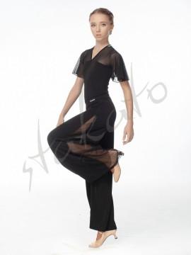 Spodnie do standardu z wstawką z siateczki