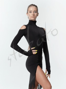 Polo neck body with long sleeve