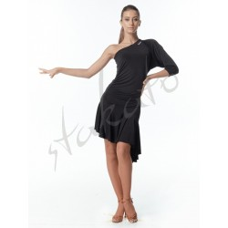 One shoulder dress with dolman sleeve