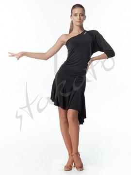 Sukienka na jedno ramię - rękaw nietoperz