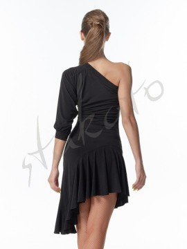 One shoulder dress with dolman sleeve