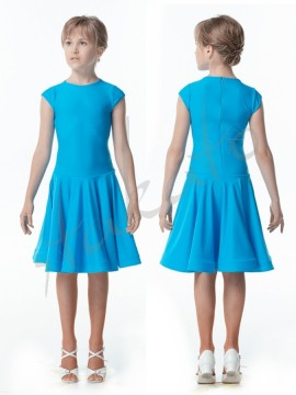 Competition dress with Italian sleeves for girls