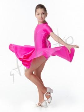 Sukienka turniejowa z krynoliną - krótki rękaw
