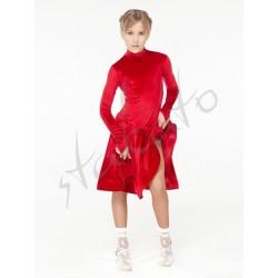 Sukienka turniejowa aksamitna ze stójką