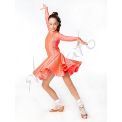 Sukienka turniejowa z koronką - długi rękaw