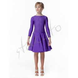 Dress with 3/4 sleeves and lace for girls