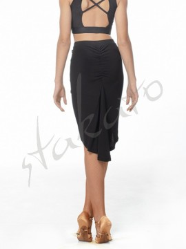 Long back skirt with drapery