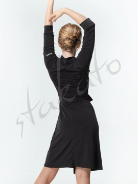 Short dance kimono with 3/4 sleeves