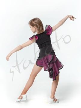 Komplet treningowy - spódniczka i top z falbanami