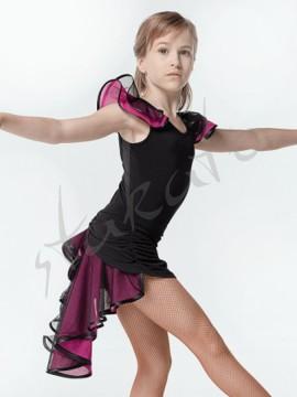 Komplet taneczny - top i spódniczka z falbanami