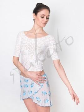 Tunika krótka biała w niebieskie kwiaty Juli Garden