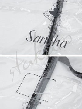 Transparent garment bag Sansha