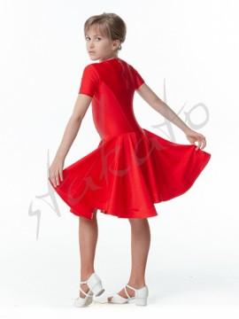 Sukienka turniejowa z krótkim rękawkiem i krynoliną