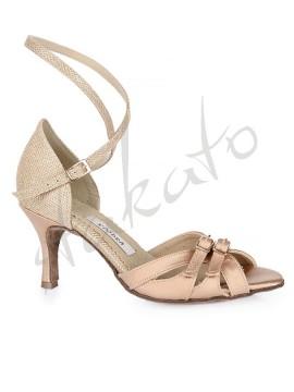 Kozdra model 25T gold satin and glitter sequins