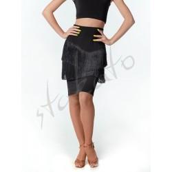 Midi skirt with fringes