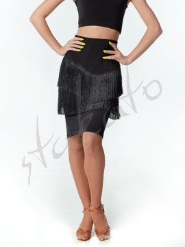 Midi skirt with fringes