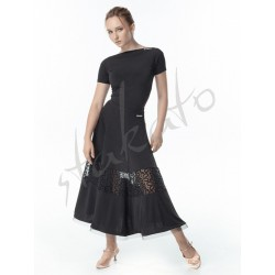 Long skirt for standard with flock and crinoline