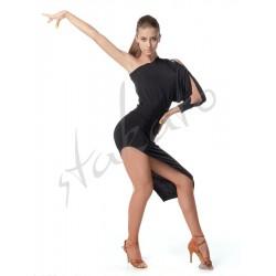 Asymmetrical dress wth dolman sleeve