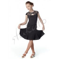 Sukienka treningowa dziewczęca z koronkowym dekoltem