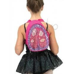 Dwustronny plecak brokatowy Capezio
