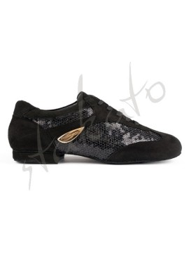 Portdance model PD01 Black Nubuck Glam