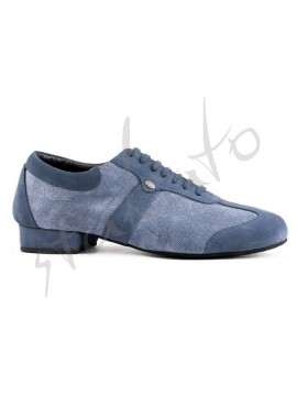 Portdance model PD PIETRO STREET Blue Denim - suede