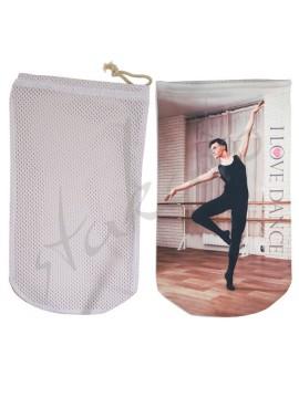 Master I LOVE DANCE pointe shoe bag