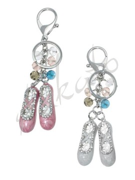 Keyring with glazed pointe shoes