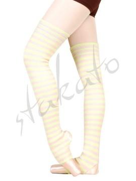 Striped long legwarmers Londrea Sansha