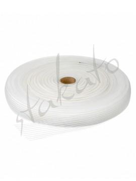 White elastic ribbon Grishko - ROLL