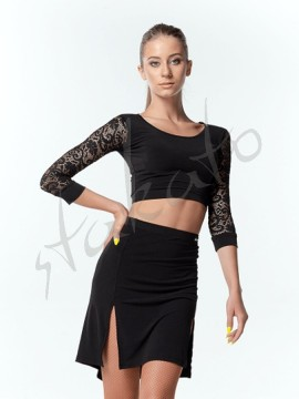 Training top 3/4 with lace sleeve