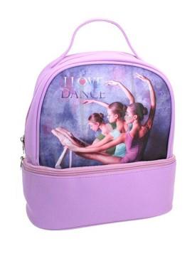 I LOVE DANCE Lilla backpack