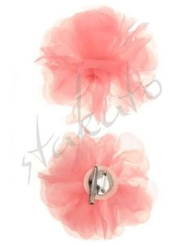 Pink veil flower with crocodile clip