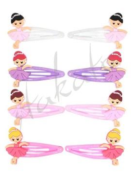 Brokatowe spinki z baletnicami