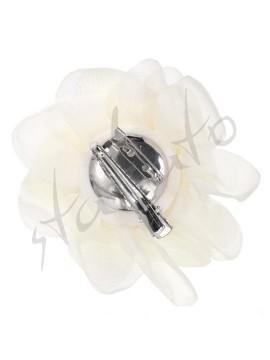 Kwiat dekoracyjny z kryształkami