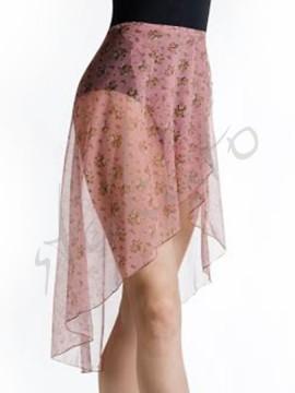 Tunika długa Lilu Pink Brown Flower Juli Garden