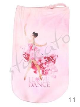 Woreczek na baletki / pointy I LOVE DANCE - kolekcja AKWARELE